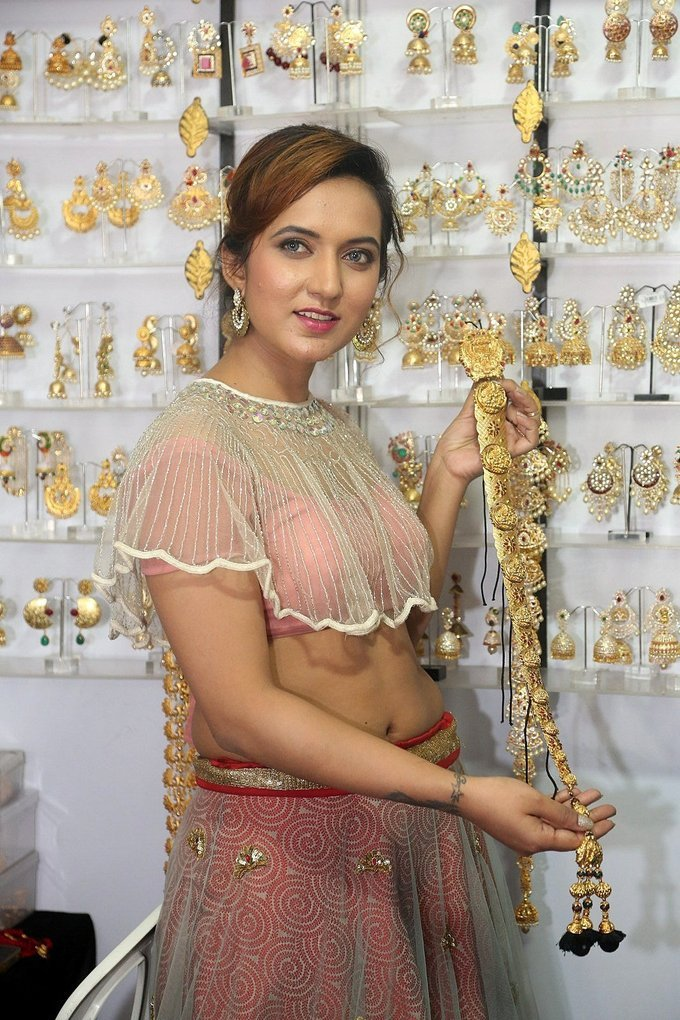 Actress Aafia Bhardwaj Inaugurates Indian Silk Expo Photos