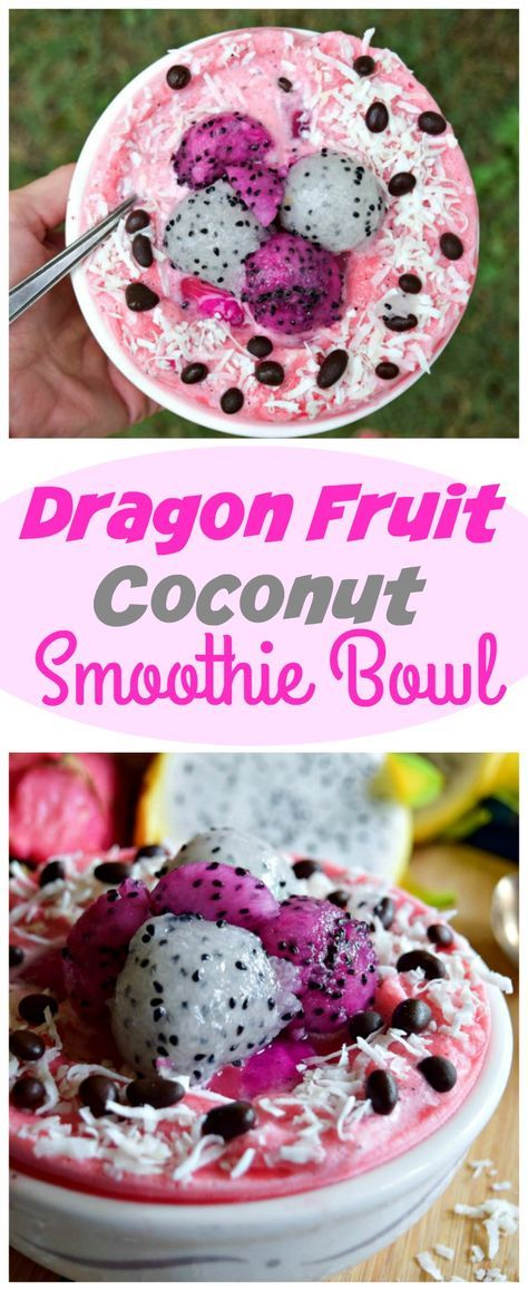 Dragon Fruit Coconut Smoothie Bowl