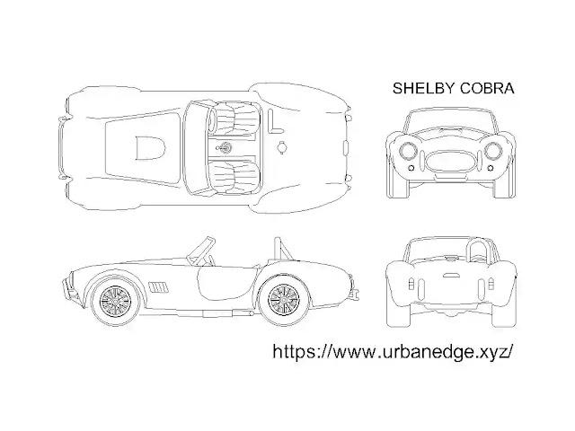 Shelby cobra car cad block download, car block AutoCAD