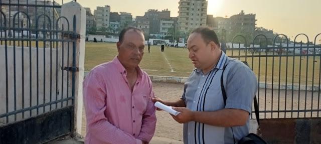 الزميل اسلام عمار مع المدير الفني لنادي دسوق