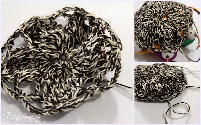 Crochet flower motif fail