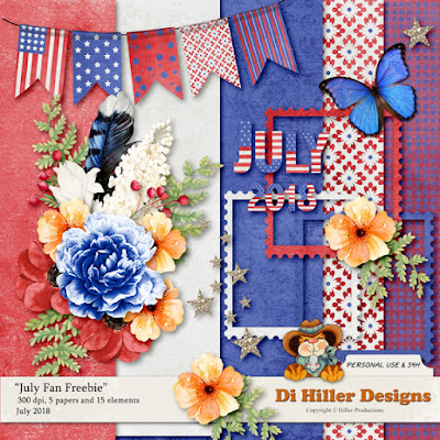 July Fan Freebie by Di Hiller
