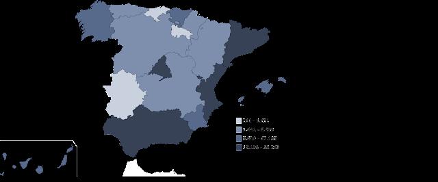 Mapa Flujo inmigrantes en España, francisco javier tapia, knowmadrid