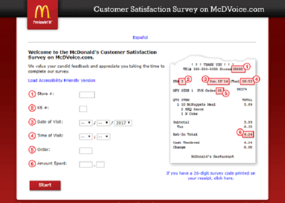 mcdvoice survey , mcdonalds survey