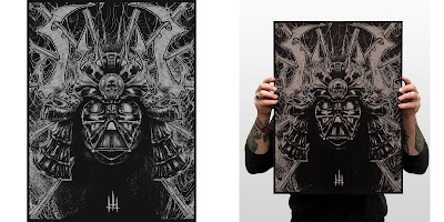 Darth Samurai Screen Print by Godmachine x I am Retro