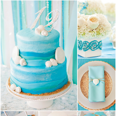 An Elegant Blue Under The Sea Party