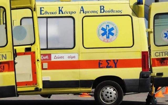Πρέβεζα: Πριν λίγο - Όχημα του ΕΚΑΒ τράκαρε με αγριογούρουνο