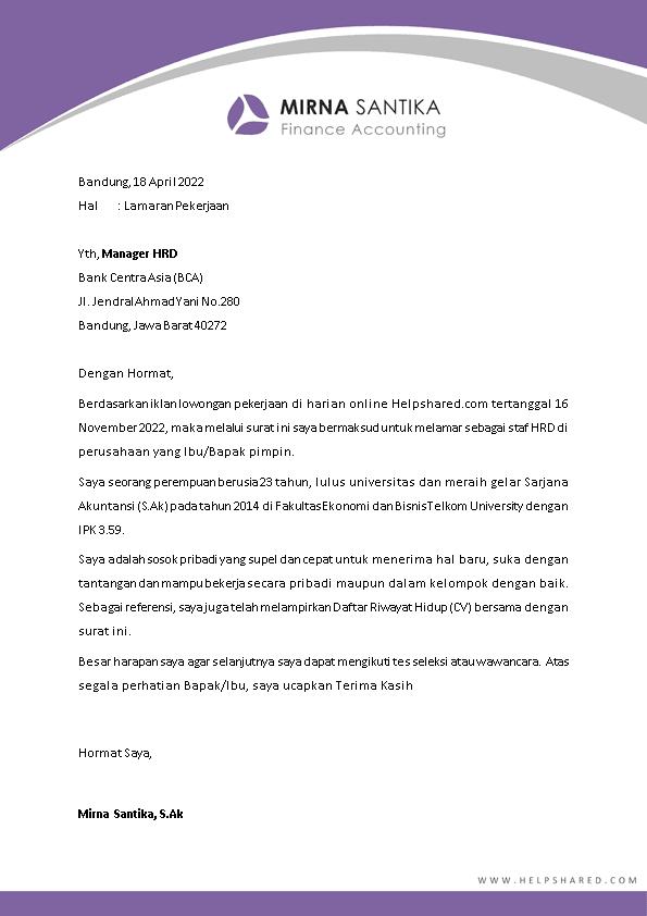 Kop Surat Lamaran Kerja 7