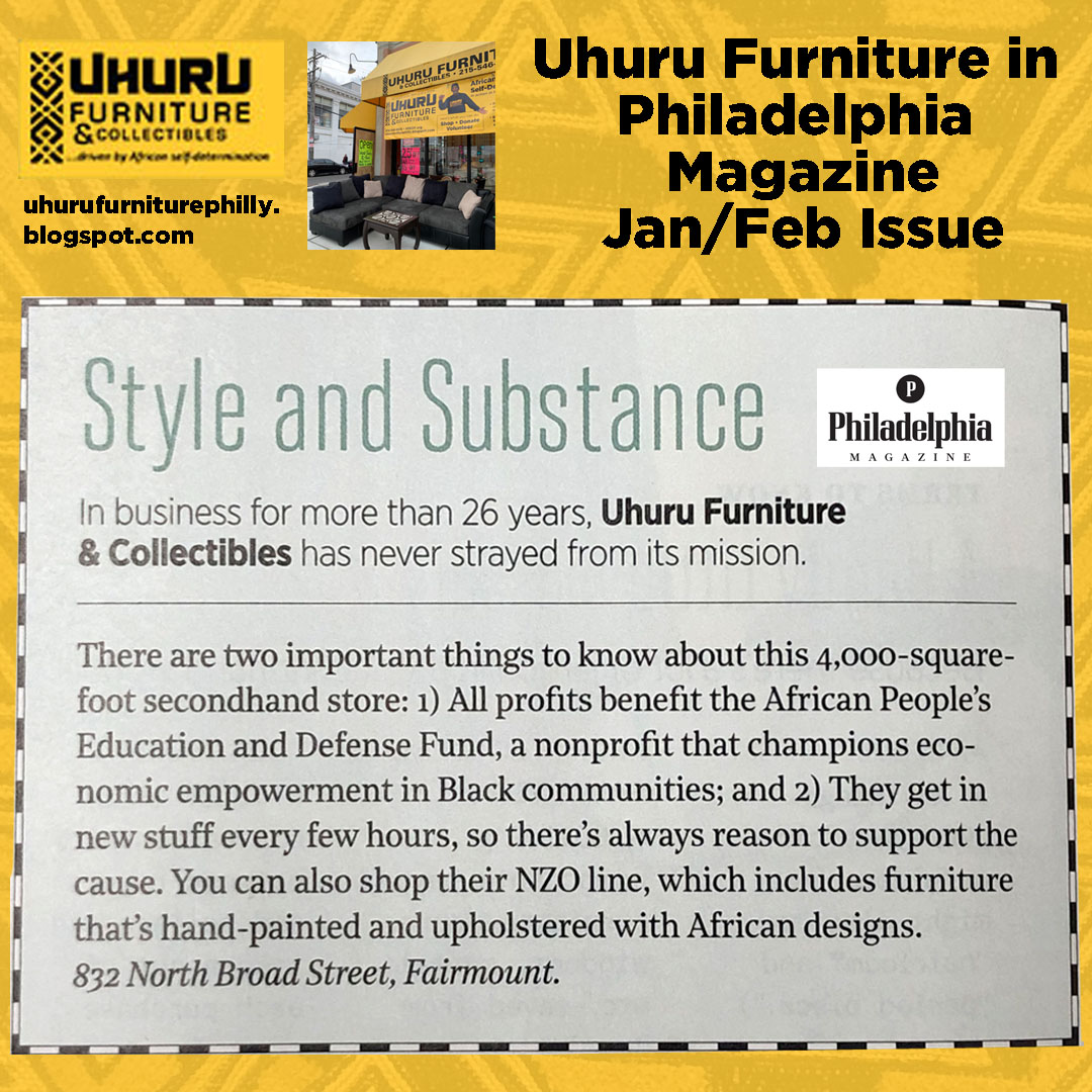 Uhuru Furniture in Philadelphia Magazine!