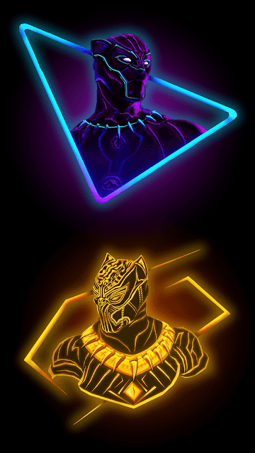 Best-Mobile-Phone-Ultra-HD-Wallpaper-Neon-Black-Panther