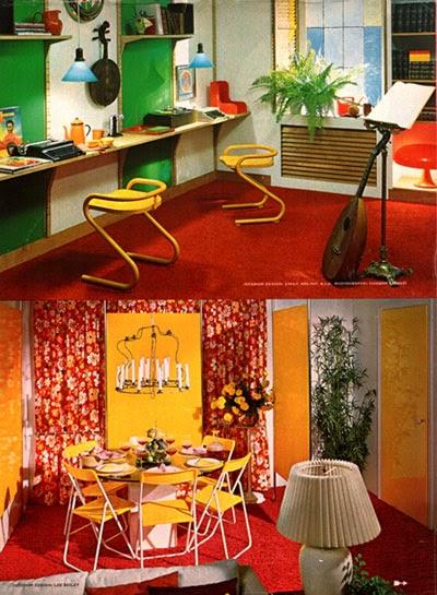 Garish Rooms Of The 70s Go Retro