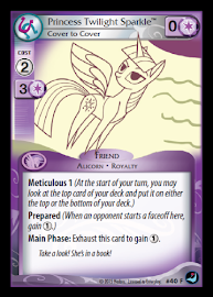 My Little Pony Princess Twilight Sparkle, Cover to Cover High Magic CCG Card