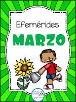 Efemérides del mes de Marzo para primaria y preescolar en pdf
