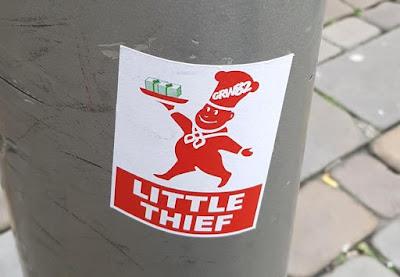 Little Thief sticker in Manchester by GRW82 Greatt Whyte