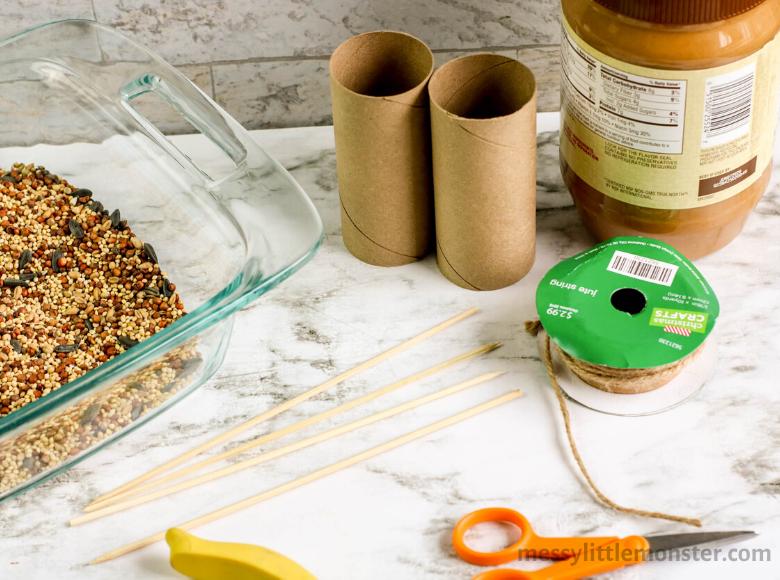 peanut butter bird feeder supplies