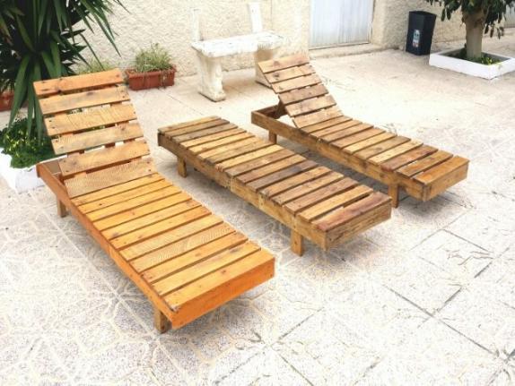 tumbonas de madera reciclada - Tumbonas Madera