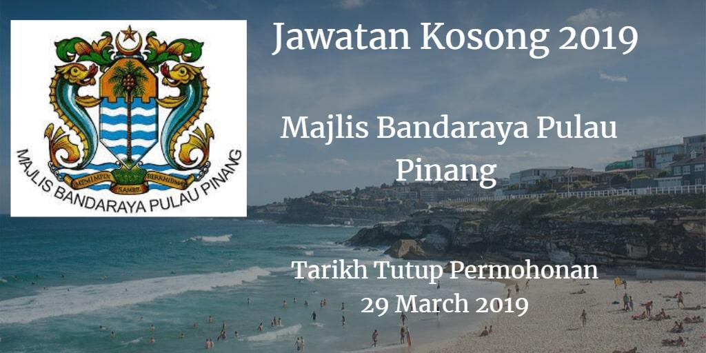 Jawatan Kosong MBPP 29 March 2019