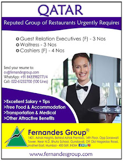 Reputed Group of Restaurants jobs in Qatar