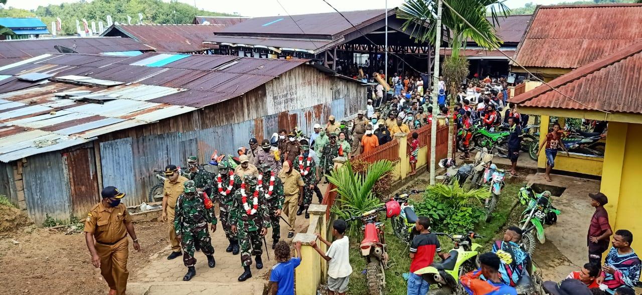 Danpusterad lakukan wasev di lokasi TMMD ke-108 kodim 1709/yawa kampung natabui dan toweta