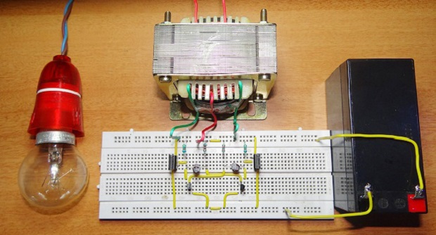 Inverter 12 Volt DC circuit So 220 Volt Simple 1000 Watt AC