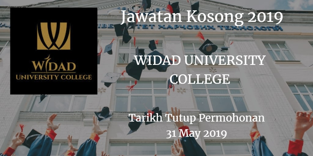 Jawatan Kosong WIDAD UNIVERSITY COLLEGE May 2019