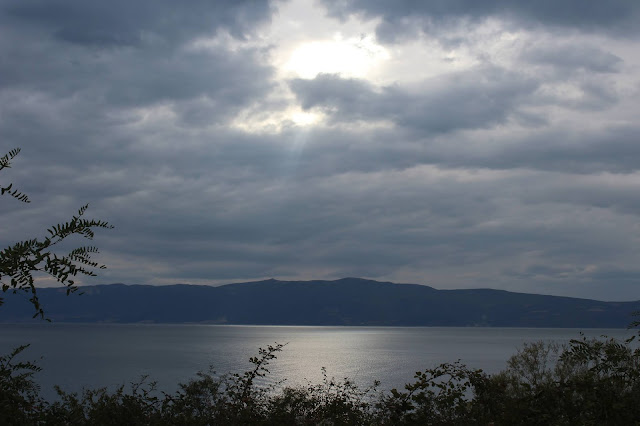 Mountain lake Ohrid Maceodnia