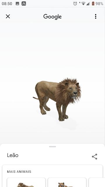 Animais e objetos 3D do Google: quais estão disponíveis e como usá-los