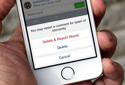 cara menghapus komentar di instagram