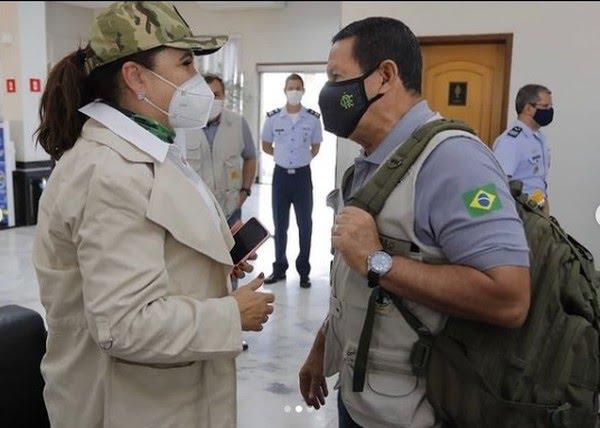 No Pará, comitiva internacional e Mourão visitam Parauapebas.