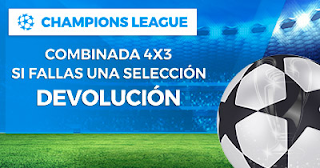 Paston Promoción UEFA Champions League: Combinada 4x3 3 abril