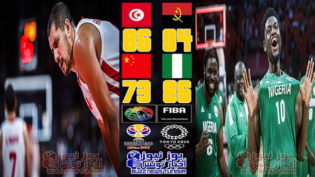 كأس العالم لكرة السلة 2019 : المنتخب التونسي يفوز علي أنغولا و أنتصار نيجيريا علي الصين يحرم تونس من التأهل المباشر للأولمبياد طوكيو 2020