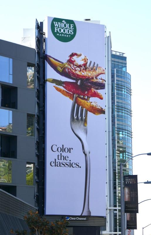 Wholefoods Color classics billboard