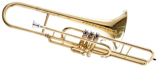 These trombones are much rarer than slide trombones.