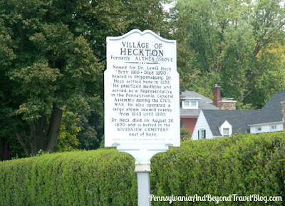 Village of Heckton Historical Marker in Heckton, Harrisburg Pennsylvania