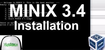 MINIX 3.4 Installation