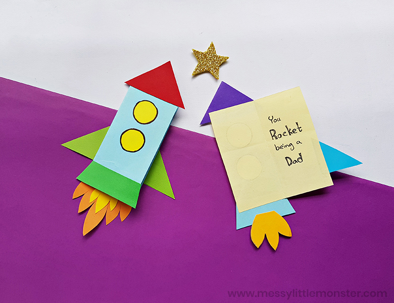 Father's Day crafts - rocket craft