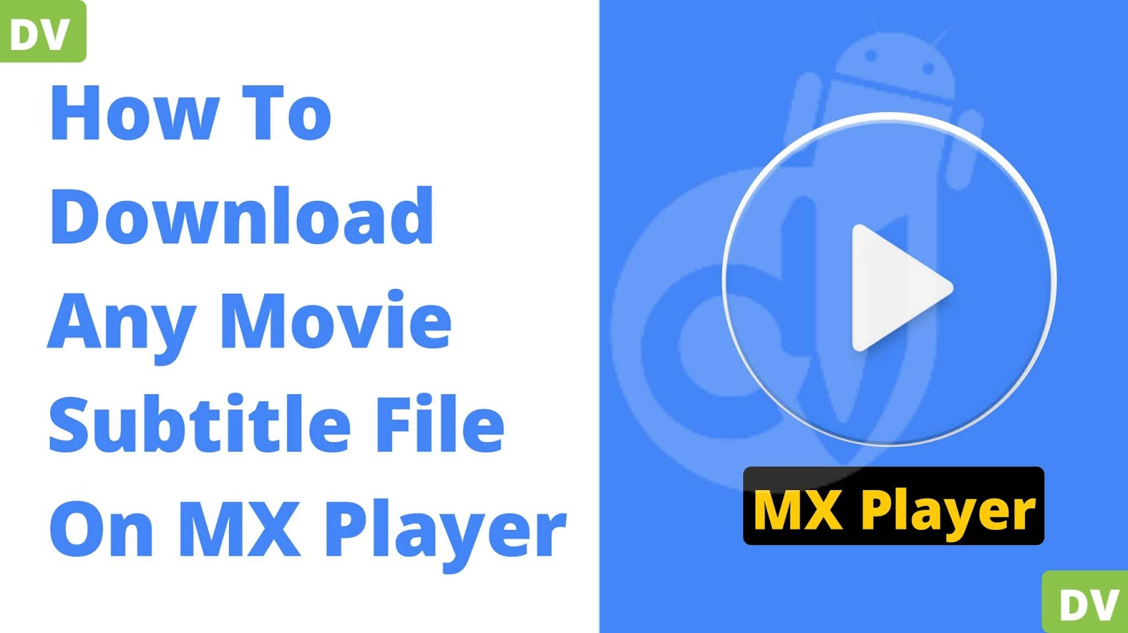 Download Subtitle mx player