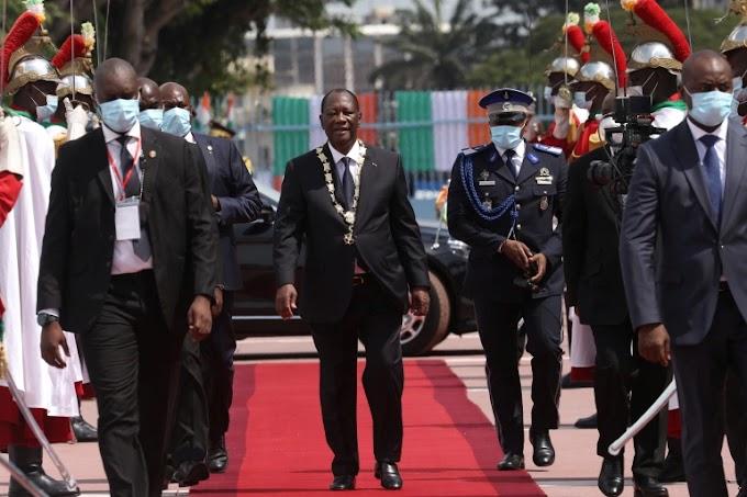 Ivory Coast's Alassane Ouattara sworn in for disputed third term