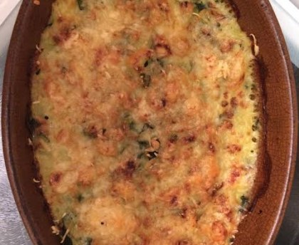 Parmentier minced meat with zucchini and cod