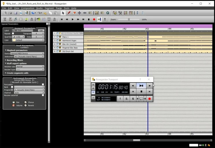 Rosegarden : Δωρεάν εφαρμογή σύνθεσης μουσικής για συνθέτες, μουσικούς, σπουδαστές