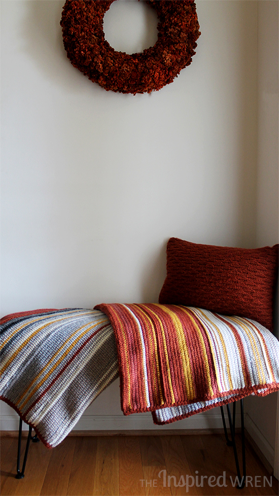 Love the unusual color-way for this Temperature Afghan | The Inspired Wren
