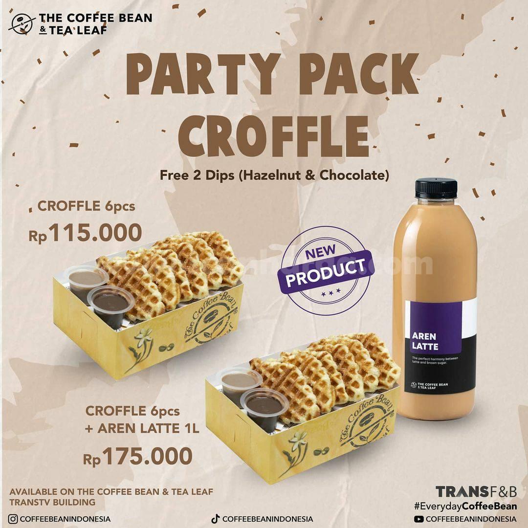 COFFEE BEAN Promo Party Pack Croffle GRATIS 2 Dips