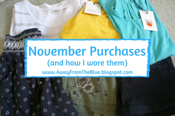 November Purchases: What I bought, How I wore It. Budget fashion blogger | away from the blue