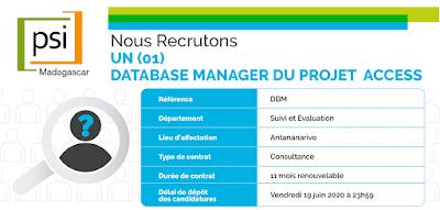 Recrutement : Database Manager du projet ACCESS