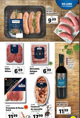 promotii reduceri carne saptamana italiana lidl 7 octombrie 2019