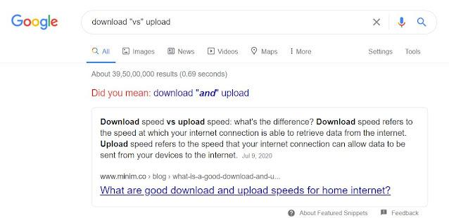 """download """"vs"""" upload"""