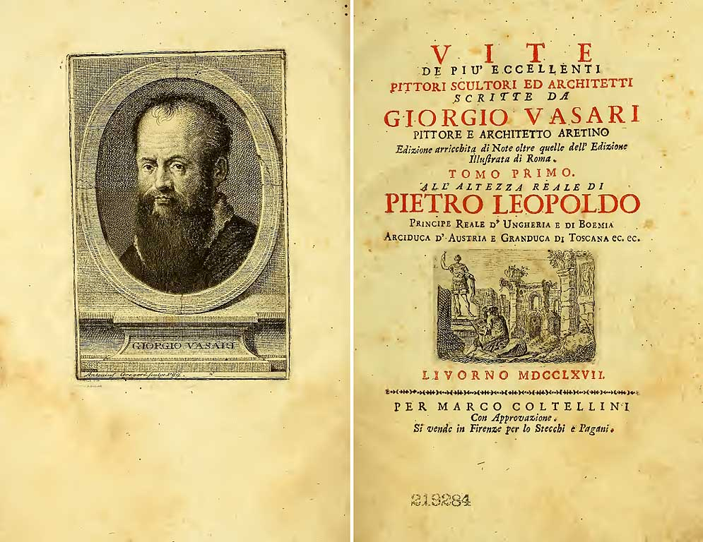 Lives by Giorgio Vasari, Mario Coltellini printer, Livorno