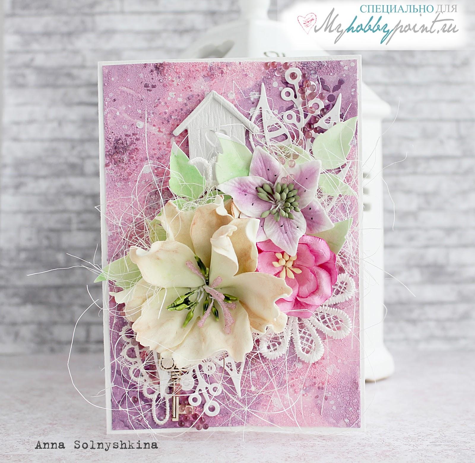 Восточному, скрапбукинг открытка с фоном из цветов