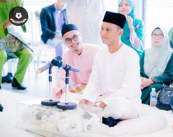 Gambar nikah Nad Zainal dan Muhammad Faliq