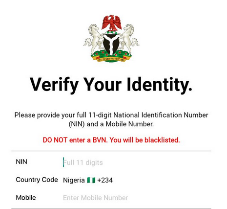 You'll be Jailed for 14yrs if You Don't Have National Identity Number (NIN)